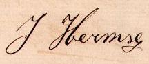 handtekening van Johannes Hermse (1848-1891)