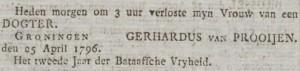 Groninger Courant,  26 april 1796