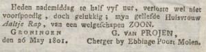 Groninger Courant, 29 mei 1801