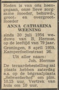 Nieuwsblad v.h. Noorden 9 april 1959