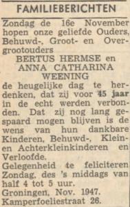 Nieuwsblad van het Noorden 12 november 1947