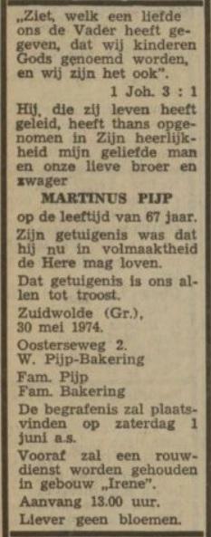 Nieuwsblad van het Noorden 31 mei 1974