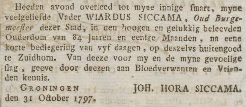 Groninger Courant, 7 november 1797