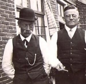 Derk van Delden met zijn zoon Wessel