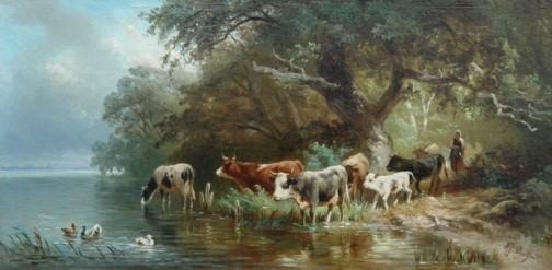 Schilderij gemaakt door Albert Jurardus van Prooijen