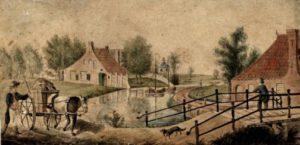 Ebbingepoort, Groningen, 1790-1810. (afbeelding van Beeldbank Groningen)