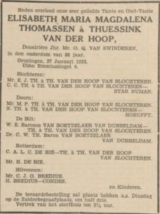 Nieuwsblad van het Noorden, 28 januari 1933