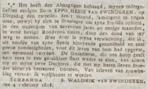 Ommelander Courant 5 februari 1808