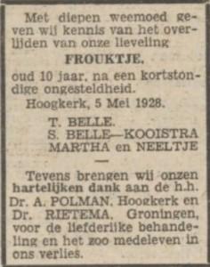 Nieuwsblad van het Noorden, 7 mei 1928