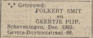 Nieuwsblad van het Noorden, 15 december 1923
