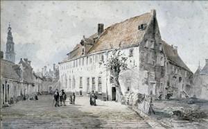 Het Groene Weeshuis,  door A.J. van Prooijen (1834-1898)