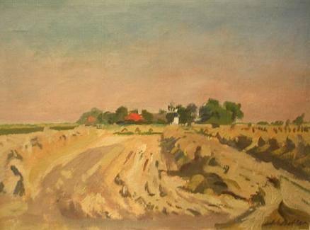 Groot Zeewijk bij Warffum, de boerderij van Geert Reinders (1790-1869), geschilderd door Johan Bakker