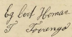 Ondertekening huwelijksakte,  Warffum 21 maart 1908