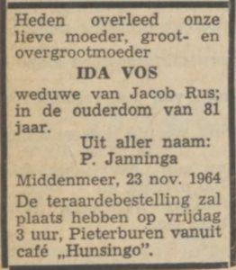 Nieuwsblad v.h. Noorden, 25 november 1964
