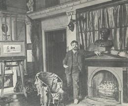 Lourens in zijn atelier in Londen