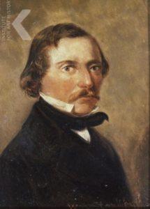 Jakobus Nicolaas Tjarda van Starkenborgh Stachouwer (1822-1895) Portret geschilderd door zijn broer Willem