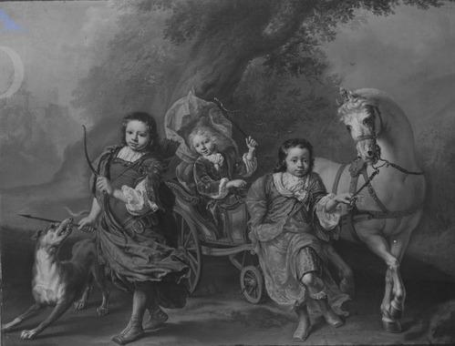 V.l.n.r. Louis, Vincent Bernard en Jan Lucas (J.A. Wassenbergh)