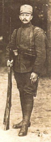 Kornelius Jan Koning als onderofficier mobilisatie 1914-1918