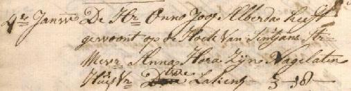 Begraafakte Onno Joost Alberda, Groningen 4 januari 1757