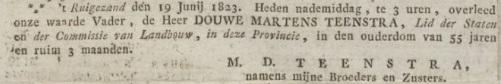Groninger Courant, 24 juni 1823