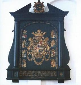 Rouwbord Anna Elisabeth Rengers in de Hervormde kerk van Slochteren