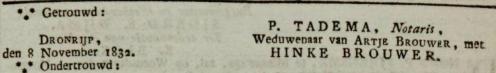 Leeuwarder Courant. 20 november 1832