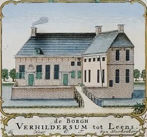 Verhildersum op de kaart van Beckeringh in 1781