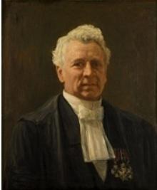Wijbrand Adriaan Reiger Het schilderij is postuum geschilderd door F.H. Bach en in 1912 geschonken aan de Universiteit door oud-leerlingen
