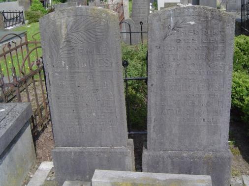 Zuiderbegraafplaats Groningen, graven familie Kimkes met Mathijs Kramer en Marchien Hermse