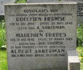 Graf van Marchien Phebes op de Zuiderbegraafplaats in Groningen