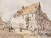 Groene Weeshuis, Hofstraat z.z. Groningen (aquarel 1858)
